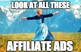look at all these affiliate ads