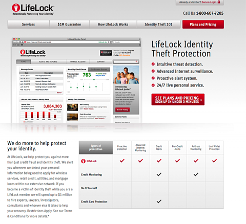 Steal These 5 Killer Landing Page Testing Strategies image Lifelock lp 2 600x547