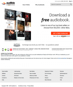 Steal These 5 Killer Landing Page Testing Strategies image audible lp 1 252x300